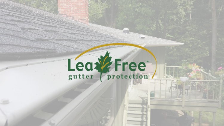 Photo of Gutter Guard System With Leaf Free Gutter Guard Logo